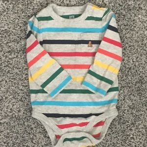 6-12 months baby GAP striped long sleeve bodysuit